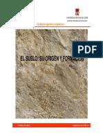 CAP I.1.Suelo Origen y Formacion