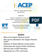 2013_REC_The Reality of Organic Rankine Cycle Applications in Alaska_Daisy Huang & Vamshi Avadhanula