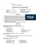 Communication & Legal CV of Danielle Knowles