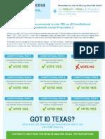 Progress Texas 2013 Constitutional Amendment Ballot Guide