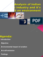 Analysis of Indian aviation industry and it's impact