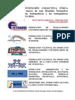 Convención Colectiva Única 2013, Original con firmas