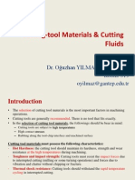 Cutting Tool Materials and Cutting Fluids by Dr. Oğuzhan YILMAZ