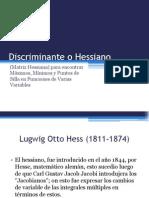 Discriminante o Hessiano