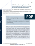 Improvements in Skeletal Muscle Strength and Cardiac Function Induced by Resveratrol During Exercise Training Contribute to Enhanced Exercise Performance in Rats