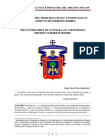 La Polemica Del Derecho Natural y Positivo en El Pensamiento de Norberto Bobbio (1)