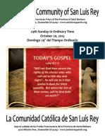 MSLRP Bulletin for  10-20-2013