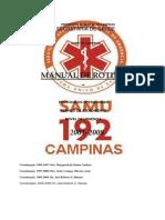 Manual de Rotinas - Samu Campinas 2008