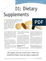 FDA 101 Dietary Supplements