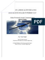 Design of a High Altitude Long Endurance Solar Powered UAV
