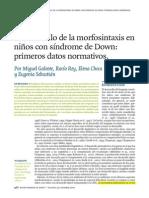 Galeote et al_2010_El desarrollo de la morfosintaxis niños SD primeros datos normativos