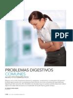 Problemas digestivos comunes. Alivio fitoterapéutico