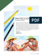 Protección solar. Nuevos activos