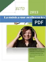La música que prefieren los jóvenes PROYECTO