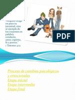 CAMBIOS PSICOLÓGICOS EN LA ADOLESCENCIA