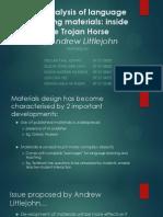 The Analysis of Language Teaching Materials