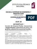 GUÍA MATEMATICAS I PRIMERA PARTE