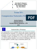 Tema XVI Compuestos Nitrogenados Naturales 1er Clase