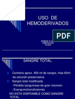 Uso de Hemoderivados 1