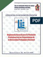 01 - Reglamento general para la titulación profesional de las licenciaturas de la UPN cs