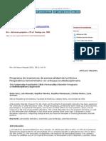 Revista chilena de neuro psiquiatría - Programa de trastornos de personalidad de la Clínica Psiquiátrica Universitaria  un enfoque multidisciplinario