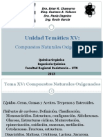 Tema XV Compuestos Oxigenados Naturales II