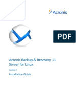 Acronis Installation Guide