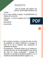 LINEA DE GRADIENTE PARA EL DISEÑO DE CARRETERAS