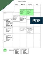 Schedule 1st Semester