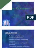 Intubation Procedures