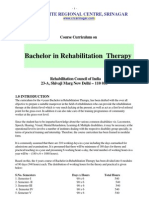 Bachelor in Rehabilitation Therapy crc syllabus