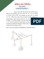 estática dos sólidos - exercicio desafio 2