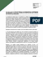 Informe Ministerio de Trabajo Sobre Obras Sin Proyecto