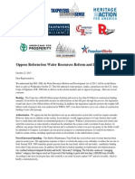Conservative Coalition Letter Opposing WRRDA, the U.S. House's maritime transportation legislative proposal