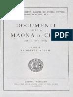 Documenti Della Maona Di Chio