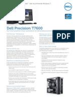 Dell Precision T7600 Spec Sheet 2