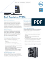 Dell Precision T7600 Spec Sheet 2