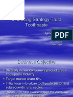 Marketing Strategy Trust Toothpaste 1