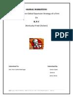 Kanan Gupta - Global Marketing Assignment  Kfc nift