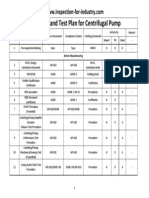 Inspection and Test Plan for Centrifugal Pump