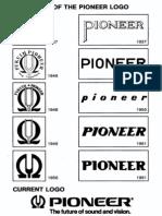 Pioneer - Evoluzione Del Logo Dal 1937 Al 1962