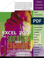 Excel 2007 for Scientists
