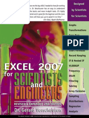 Excel 2007 for Scientists | Microsoft Excel | Regression Analysis