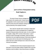 Blackbook Project on Stress Management