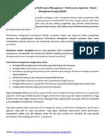Jasa Konsultan Dan Training Performance Management