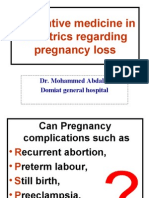 Pregnancy Loss Prevention