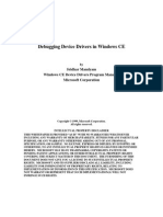 Debugging device drivers in windows CE