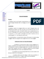 Project Report on Transformer, Transformer - Introduction, Uses of Transformer