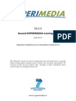 D3.2.3 Second EXPERIMEDIA Training Plan PU v1.0