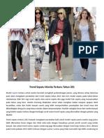 Trend Sepatu Wanita Terbaru Tahun 2013